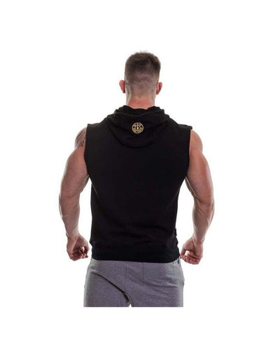 Gold's Gym Muscle Joe Sleeveless Hoodie Black-Golds Gym-Gym Wear