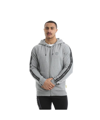 Gold's Gym FZ Tape Zip Up Hoodie Grey-Golds Gym-Gym Wear