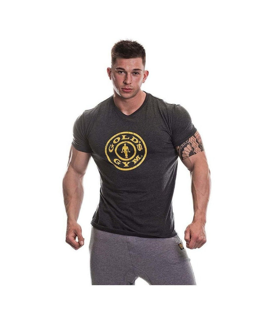 Gold's Gym 'Stronger Than Excuses' Gym T-Shirt Charcoal