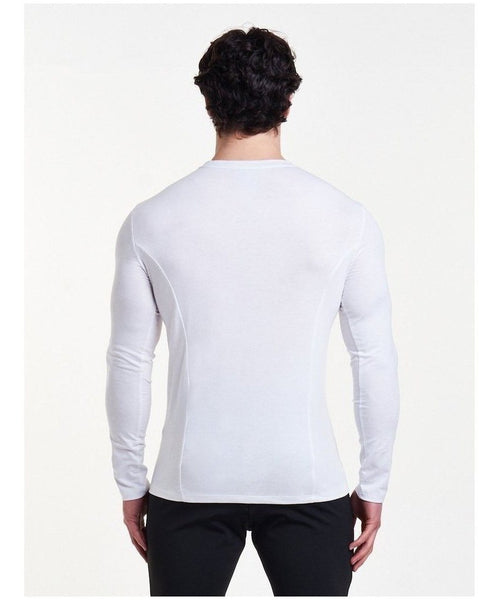 Pursue Fitness Essential Long sleeve T-Shirt White-Pursue Fitness-Gym Wear