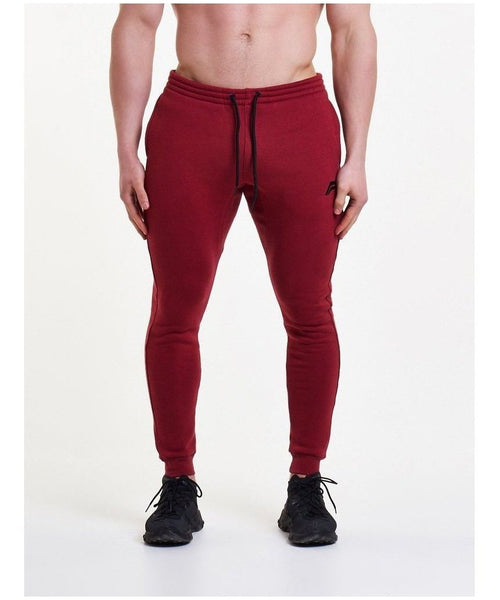 Pursue Fitness Icon Tapered Joggers Blood Red-Pursue Fitness-Gym Wear