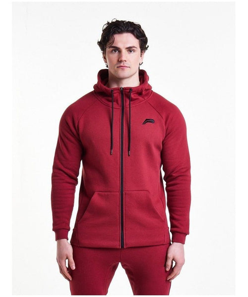 Pursue Fitness Icon Tapered Hoodie Blood Red-Pursue Fitness-Gym Wear