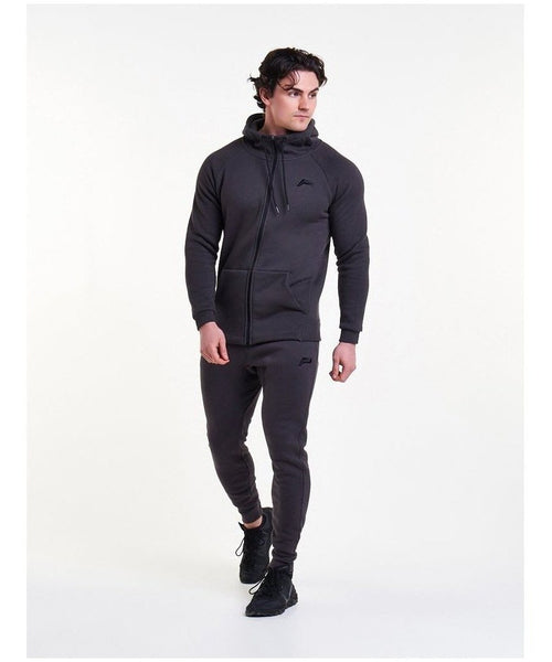 Pursue Fitness Icon Tapered Hoodie Slate-Pursue Fitness-Gym Wear