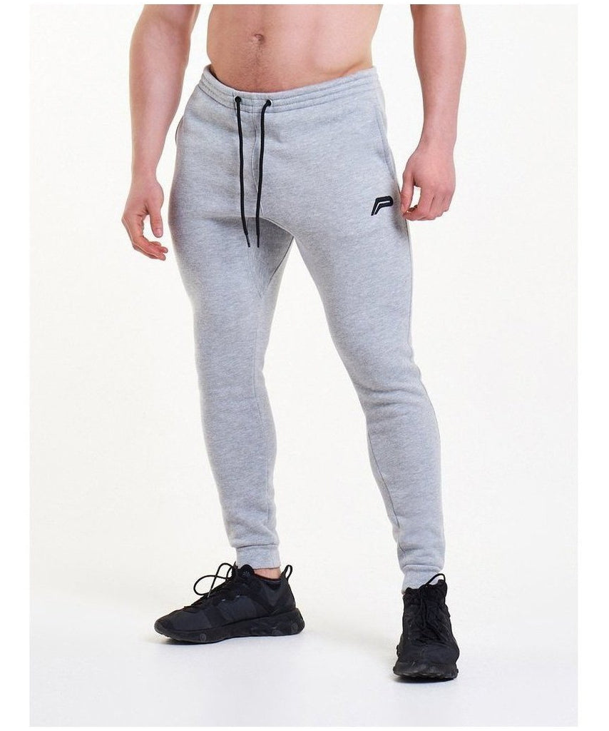 Pursue Fitness Icon Tapered Joggers Grey-Pursue Fitness-Gym Wear