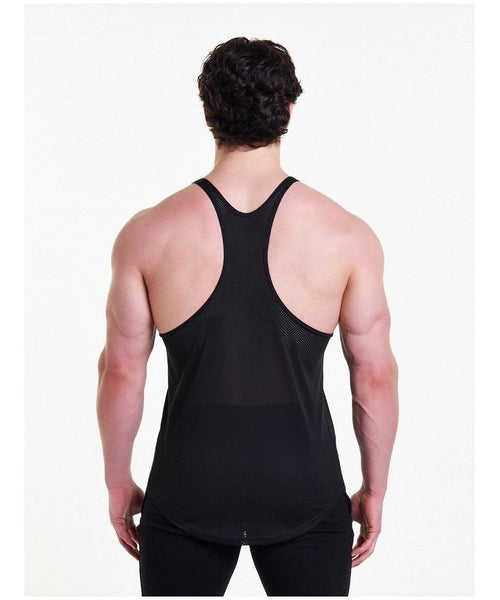 Pursue Fitness Mesh Back Stringer Vest Black-Pursue Fitness-Gym Wear