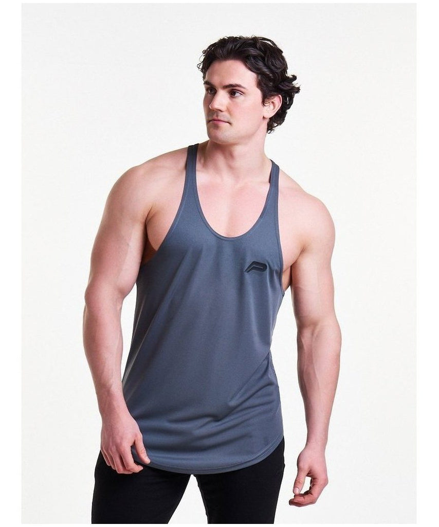 Pursue Fitness Mesh Back Stringer Vest Grey-Pursue Fitness-Gym Wear