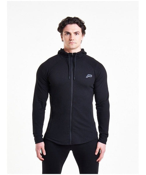 Pursue Fitness Response Zip Up Hoodie Black-Pursue Fitness-Gym Wear