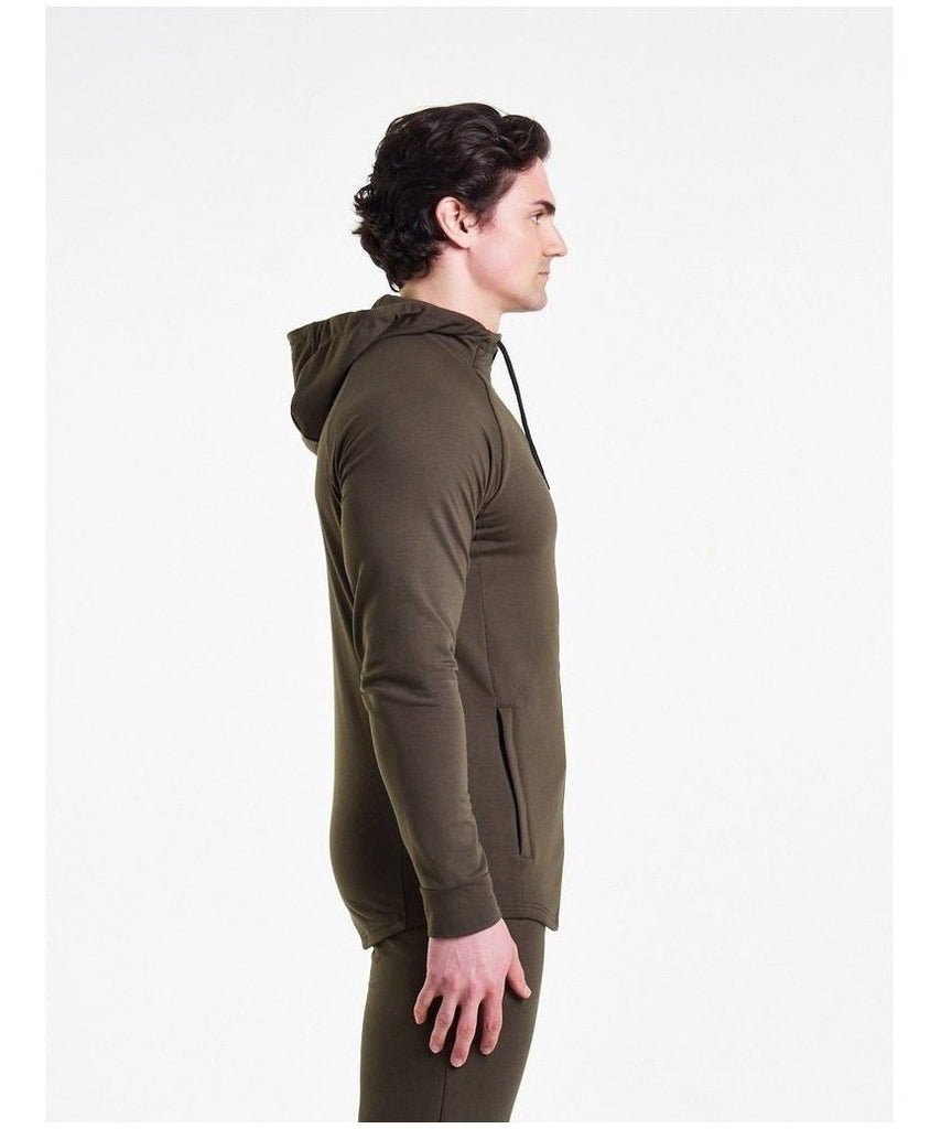 Pursue Fitness Response Zip Up Hoodie Olive-Pursue Fitness-Gym Wear