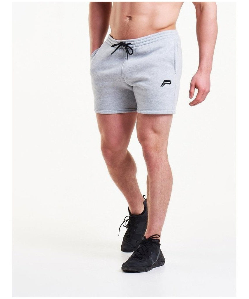 Pursue Fitness Icon Tapered Shorts Grey-Pursue Fitness-Gym Wear