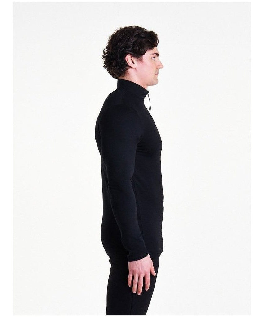 Pursue Fitness Performance Quarter Zip Black-Pursue Fitness-Gym Wear