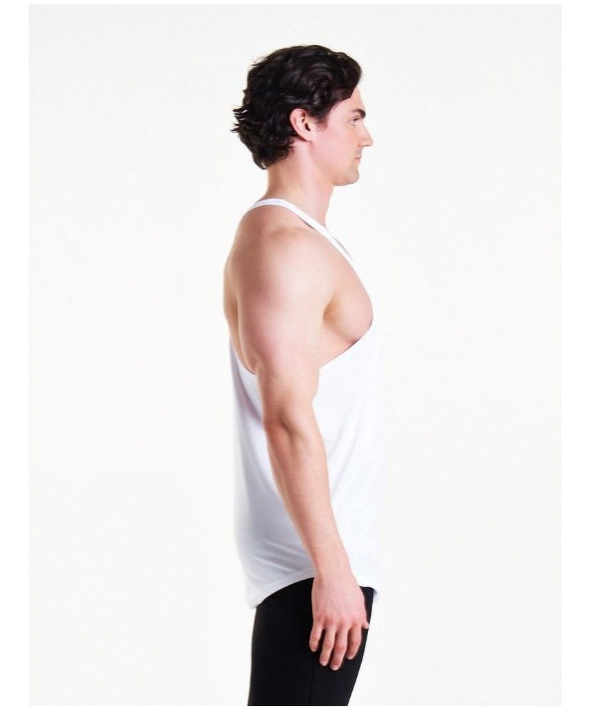 Pursue Fitness Essential Breatheasy Stringer Vest White-Pursue Fitness-Gym Wear