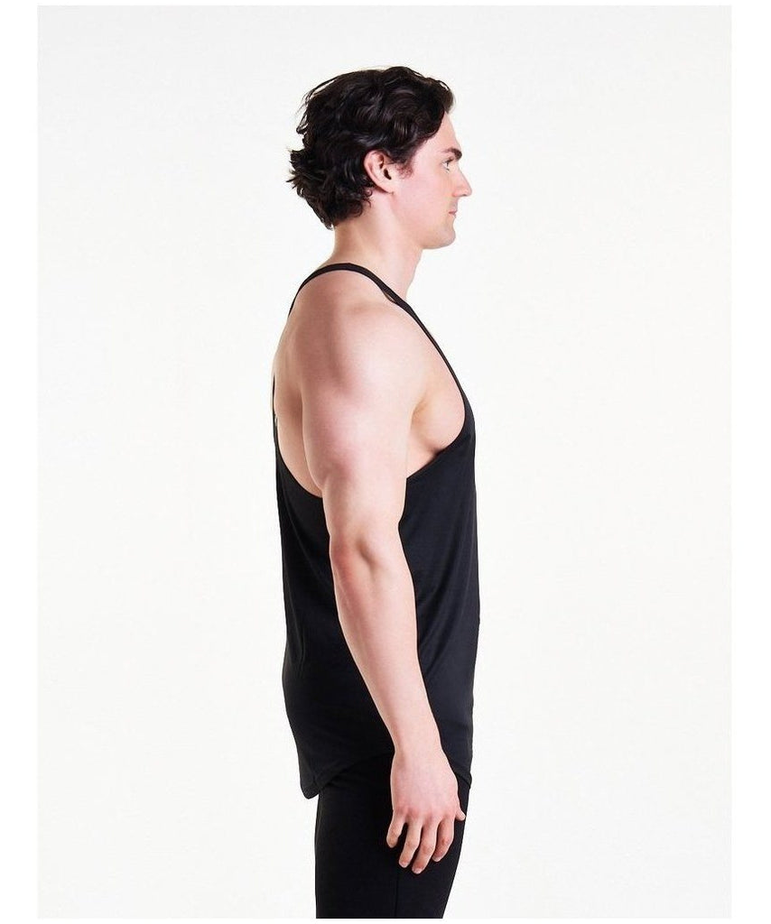 Pursue Fitness Essential Breatheasy Stringer Vest Black-Pursue Fitness-Gym Wear