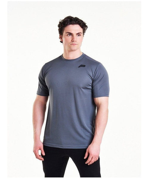 Pursue Fitness Mesh T-Shirt Grey-Pursue Fitness-Gym Wear