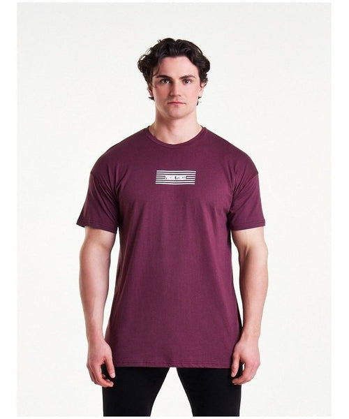 Pursue Fitness Comfort T-Shirt Maroon-Pursue Fitness-Gym Wear
