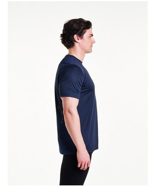 Pursue Fitness Mesh T-Shirt Navy-Pursue Fitness-Gym Wear