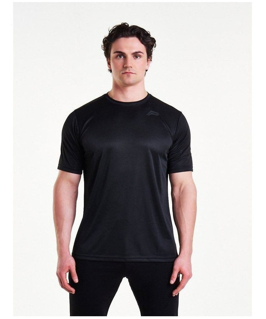 Pursue Fitness Mesh T-Shirt Black-Pursue Fitness-Gym Wear