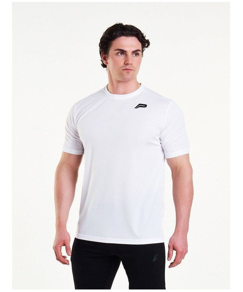 Pursue Fitness Mesh T-Shirt White-Pursue Fitness-Gym Wear