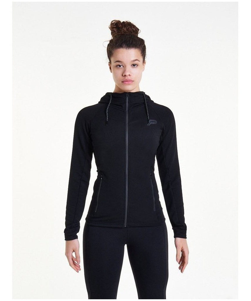 Pursue Fitness Slim Stretch Hoodie Black-Pursue Fitness-Gym Wear