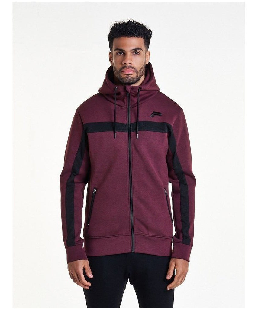 Pursue Fitness Hybrid 2.0 Zip Hoodie Maroon-Pursue Fitness-Gym Wear
