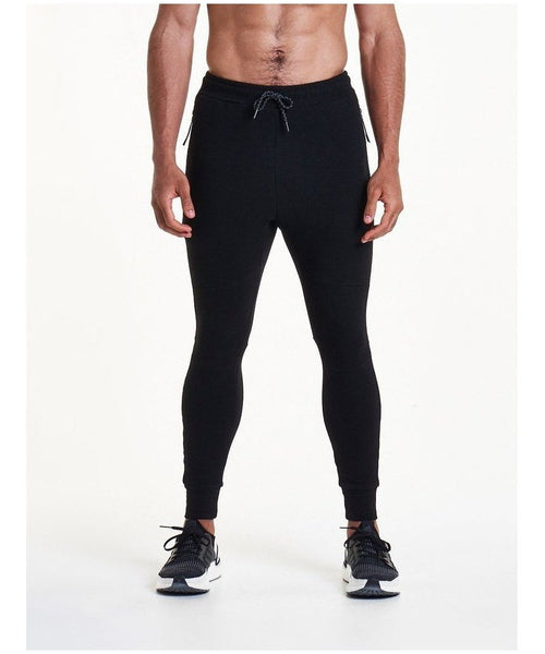Pursue Fitness Stretch Fit Cuffed Joggers Black-Pursue Fitness-Gym Wear