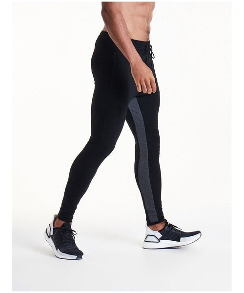 336623264753 Pursue Fitness Pro Fit Tapered Joggers Black Grey-Pursue Fitness-Gym Wear