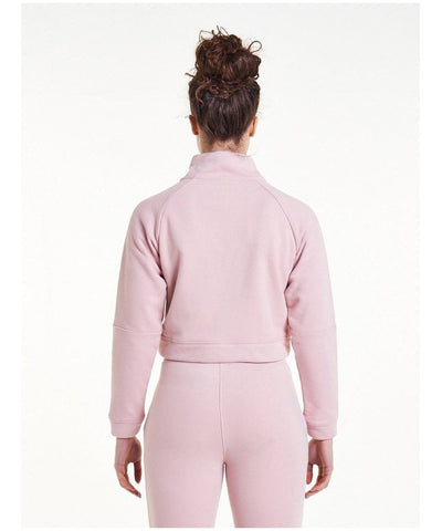 Pursue Fitness Retro Crop Fleece Jacket Pastel Pink-Pursue Fitness-Gym Wear