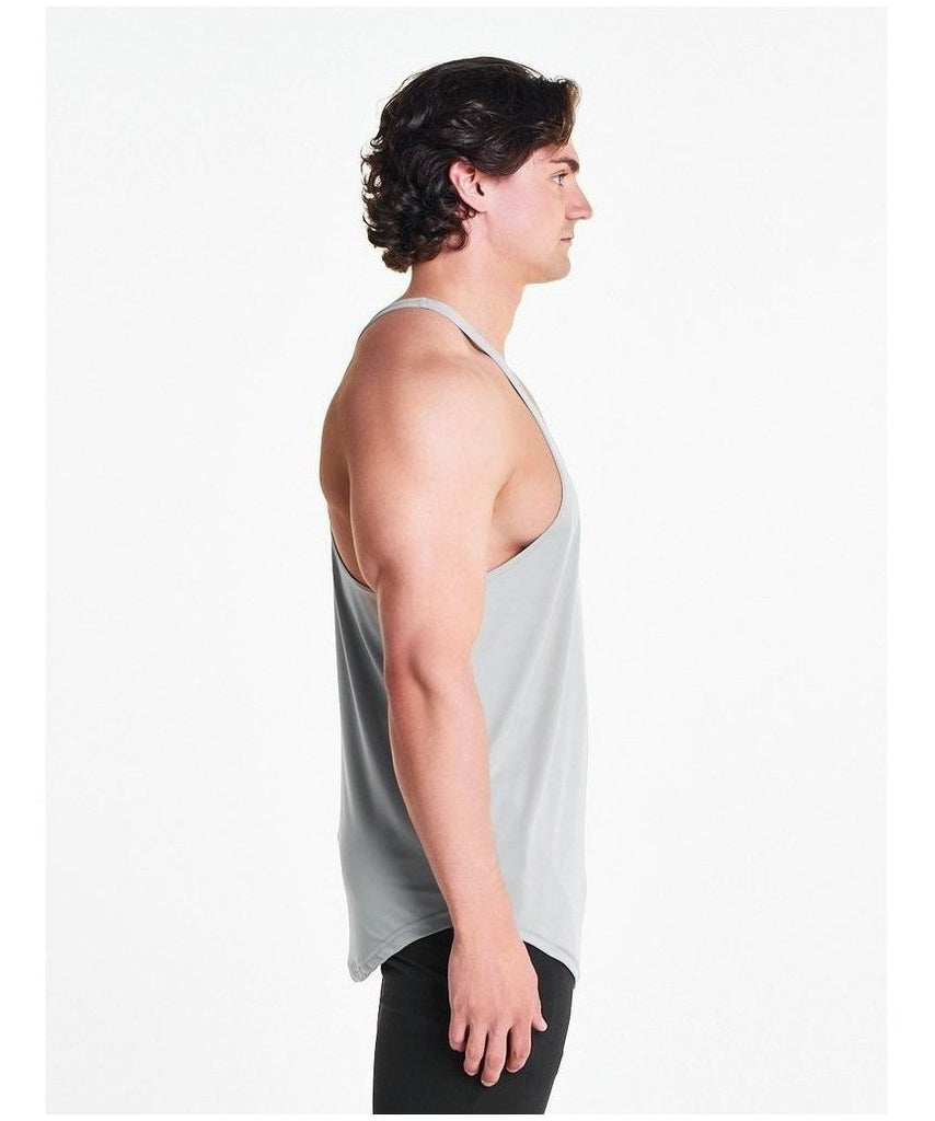 Pursue Fitness Essential Breatheasy Stringer Vest Light Grey-Pursue Fitness-Gym Wear