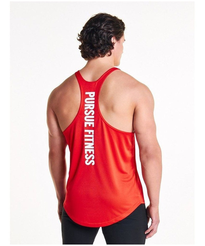 Pursue Fitness Essential Breatheasy Stringer Vest Red