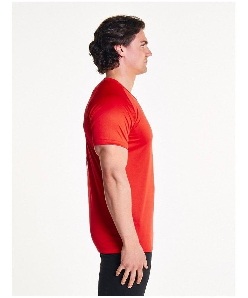Pursue Fitness Essential Breatheasy T-Shirt Red-Pursue Fitness-Gym Wear