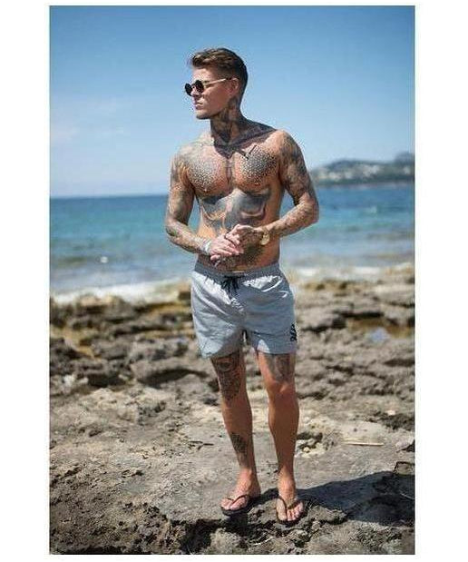 Sinners Attire Shorts Grey-Sinners Attire-Gym Wear