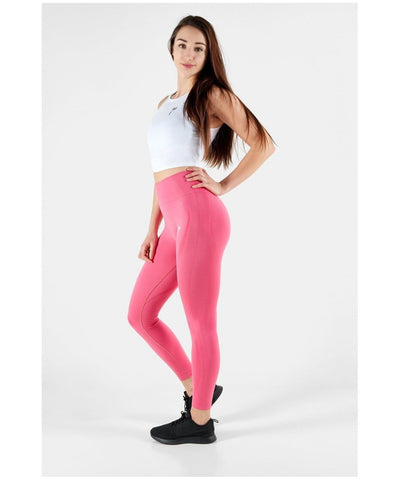 Famme Vortex High Waisted Leggings Honeysuckle-Famme-Gym Wear