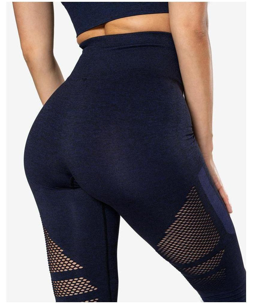 ICIW Seamless High Waisted Leggings Navy-ICIW-Gym Wear