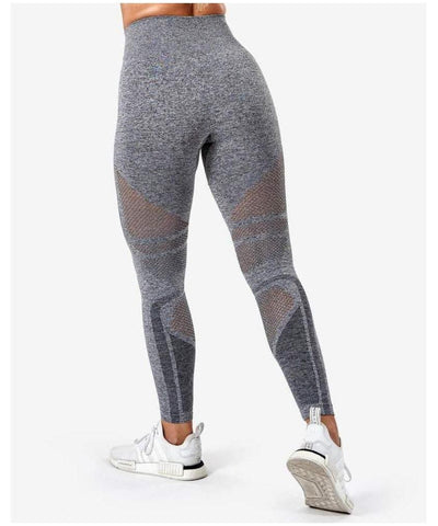 ICIW Seamless High Waisted Leggings Grey Melange-ICIW-Gym Wear