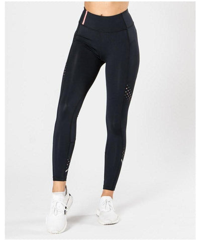 ICIW 7/8 Stripe High Waisted Leggings Black-ICIW-Gym Wear