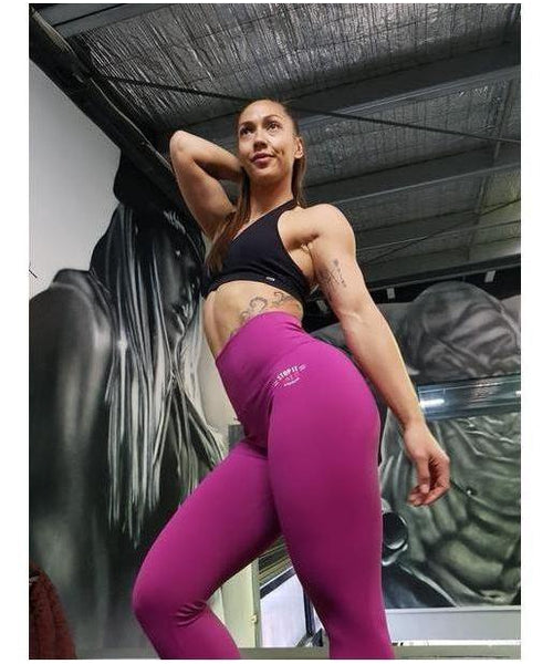 Stop It I Like It High Waisted Scrunch Leggings Super Fruit Smoothie-Stop It I Like It-Gym Wear