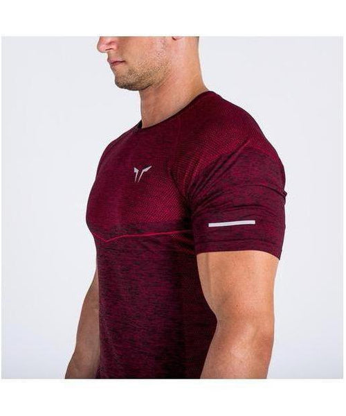 Squat Wolf Seamless Dry Knit T-Shirt Port Red-Squat Wolf-Gym Wear