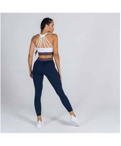 Squat Wolf Stripes Leggings Navy-Squat Wolf-Gym Wear