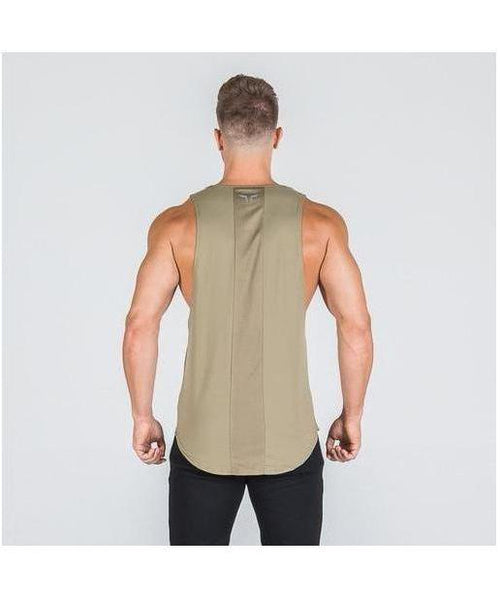 Squat Wolf Muscle Stringer Olive-Squat Wolf-Gym Wear