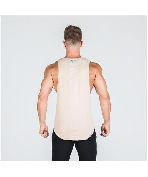 Squat Wolf Muscle Stringer Khaki-Squat Wolf-Gym Wear