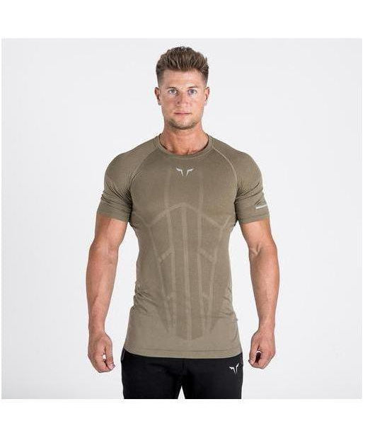 Squat Wolf Seamless Spyder T-Shirt Olive-Squat Wolf-Gym Wear