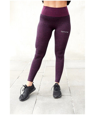 Famme Essential Seamless High Waisted Leggings Purple-Famme-Gym Wear