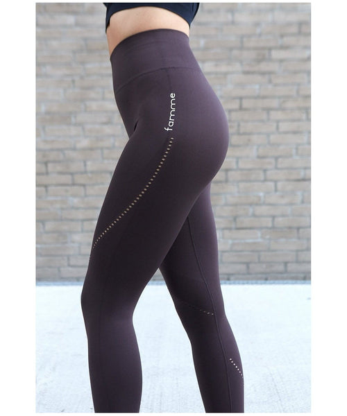 Famme Cassini High Waisted Leggings Seal-Famme-Gym Wear