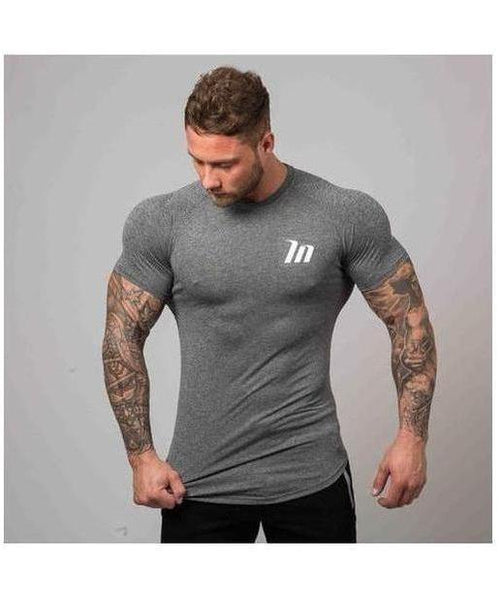 Muscle Nation ClimaFlex T-Shirt Grey-Muscle Nation-Gym Wear