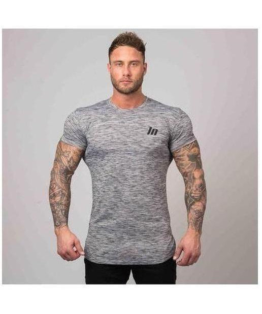 Muscle Nation BreatheFit Heather T-Shirt Grey-Muscle Nation-Gym Wear