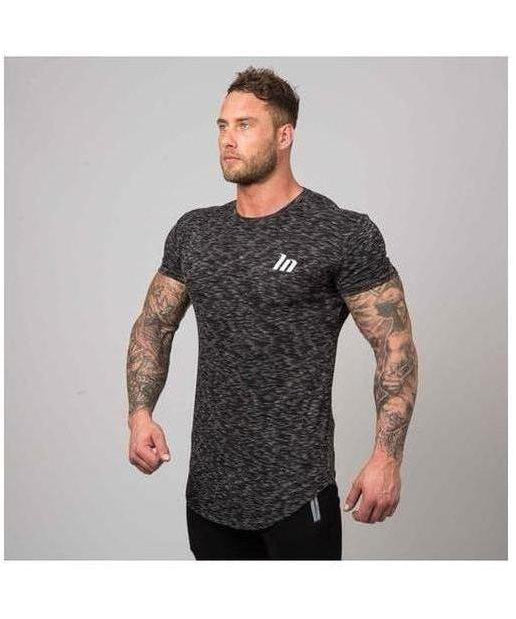 Muscle Nation BreatheFit Heather T-Shirt Black-Muscle Nation-Gym Wear