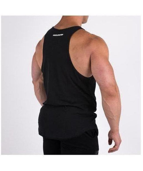 Muscle Nation Essential Vest Black-Muscle Nation-Gym Wear