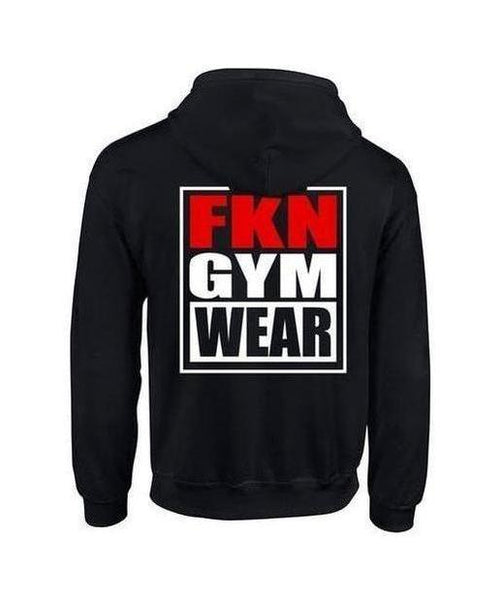 Mens FKN Gym Wear Hoodie Black-FKN Gym Wear-Gym Wear