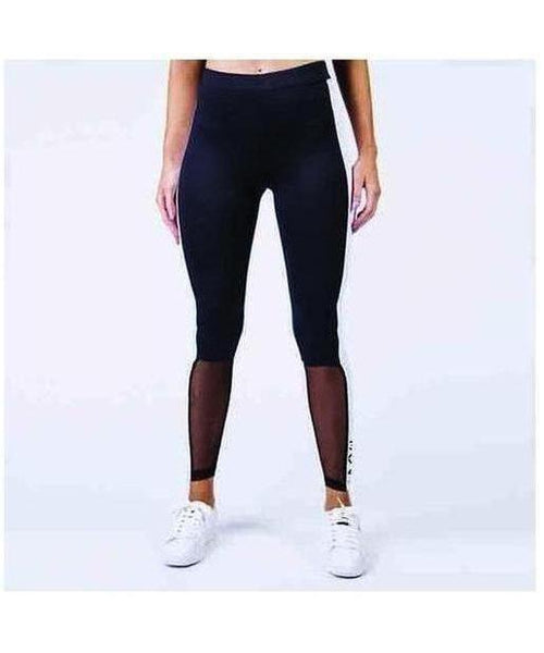 304 Clothing Mesh Leggings Black-304 Clothing-Gym Wear