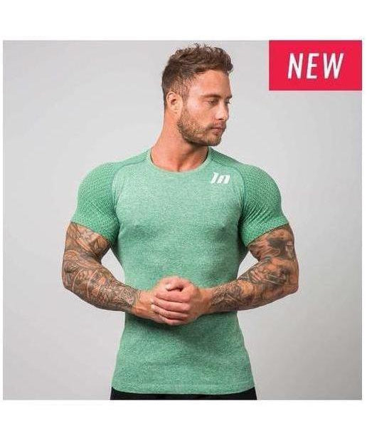 Muscle Nation Ghost Seamless T-Shirt Green-Muscle Nation-Gym Wear