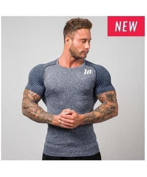 Image of Muscle Nation Ghost Seamless T-Shirt Navy